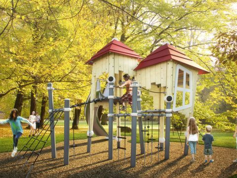 Image of Wood­ville – The new wooden play equip­ment by Ber­liner Seil­fab­rik