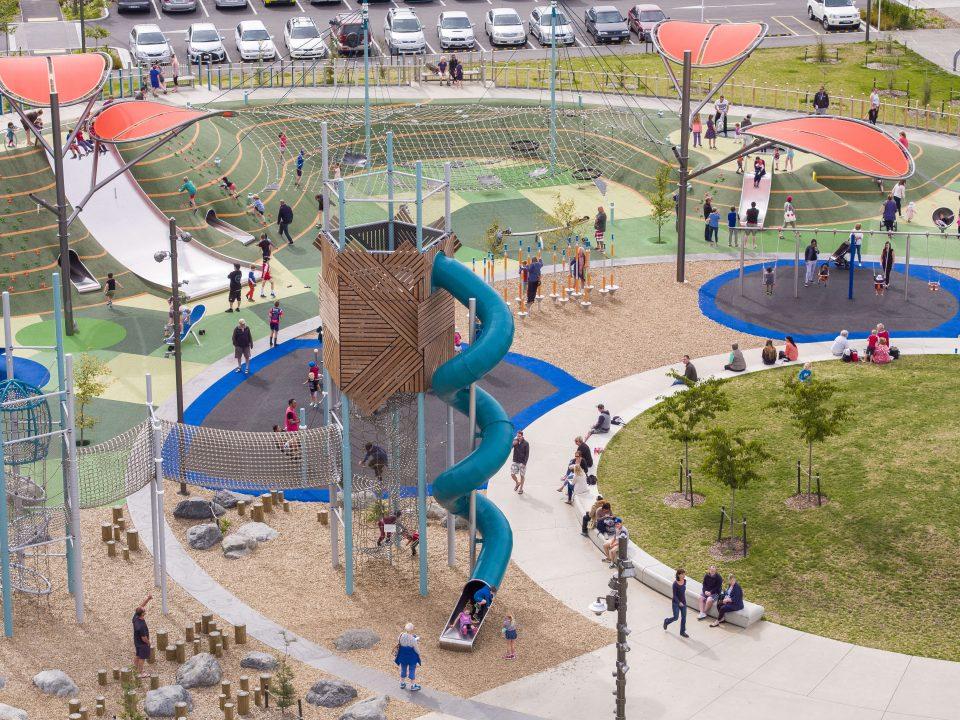 Margaret Mahy Playground – Berliner Seilfabrik – Spielgeräte fürs Leben
