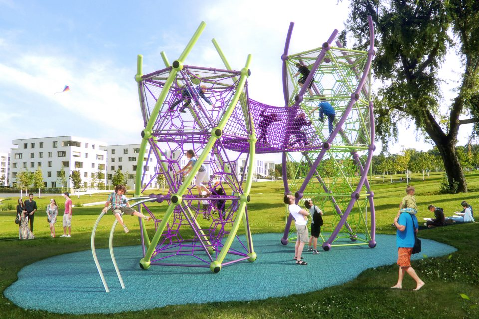 DNA Tower – Berliner Seilfabrik – Spielgeräte fürs Leben