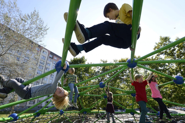 Exterior scaffolding Geoarena - Berliner Seilfabrik - Play equipment for life